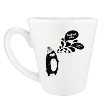 Чашка Латте Пингвин Любовный