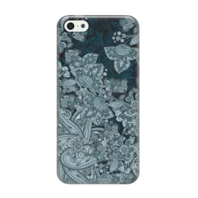 Чехол для iPhone 5/5s Цветочный дизайн с персидскими огурцами