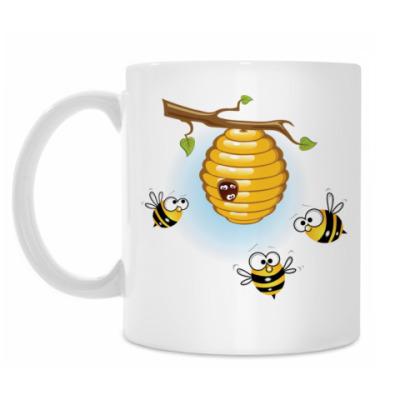 Кружка Пчелы, улей с медом