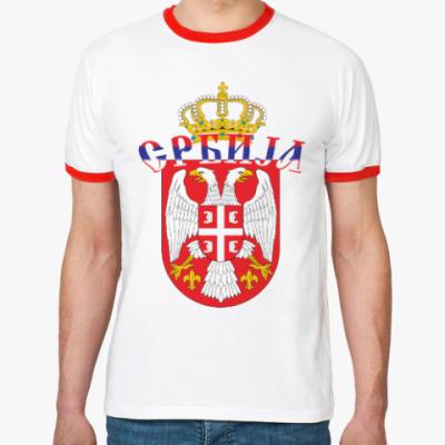 Футболка Ringer-T Малый герб Сербии