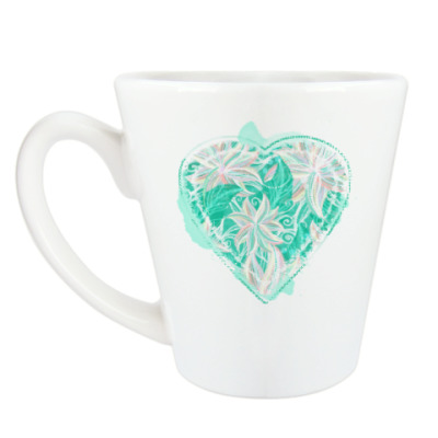 Чашка Латте Мятное сердечко
