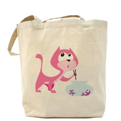 Сумка Sushi Cat Холщовая сумка