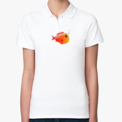 Женская рубашка поло Довольная рыба
