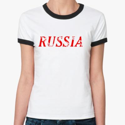 Женская футболка Ringer-T Российская Федерация