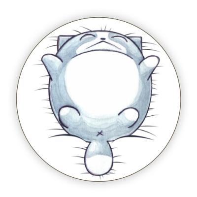 Костер (подставка под кружку) Круглый кот