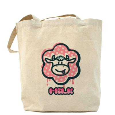 Сумка сумка с розовым коровом