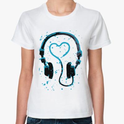 Классическая футболка dj's heart