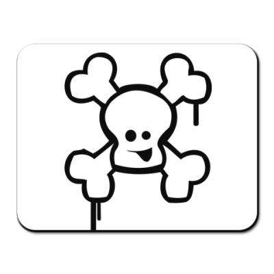Коврик для мыши Веселый череп