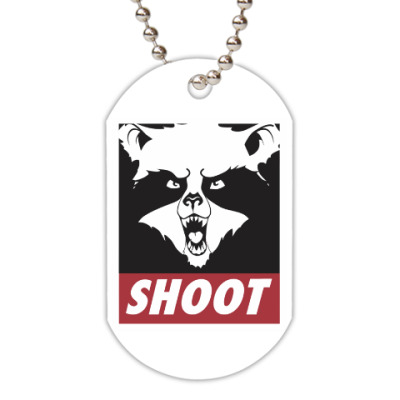 Жетон dog-tag Raccoon Shoot