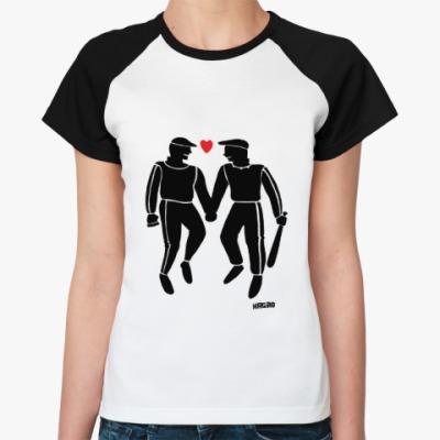 Женская футболка реглан Гопники-геи