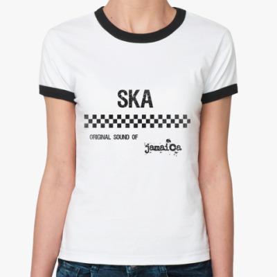 Женская футболка Ringer-T Original ska  Ж()