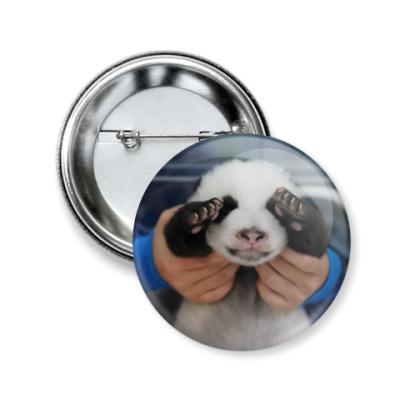 Значок 50мм Маленькая панда