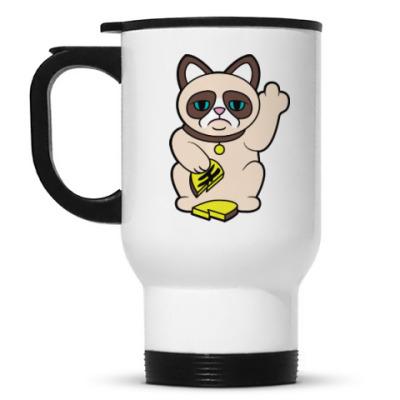 Кружка-термос Tard Grumpy Cat Maneki Neko