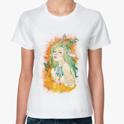 Классическая футболка Девушка-коза