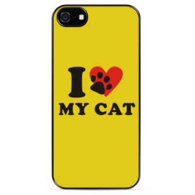 Чехол для iPhone Я люблю своего кота