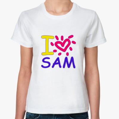 Классическая футболка Supernatural - Сэм