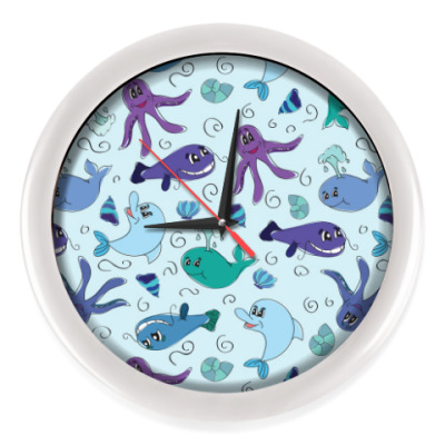 Настенные часы Морская жизнь
