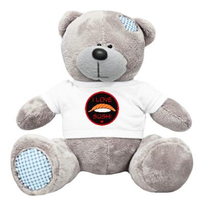 Плюшевый мишка Тедди Я люблю суши