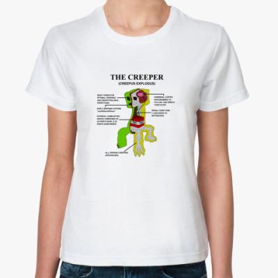 Классическая футболка 'Анатомия крипера'