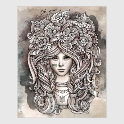 Постер Ukrainian girl