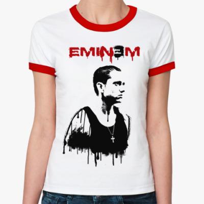 Женская футболка Ringer-T Eminem graffity