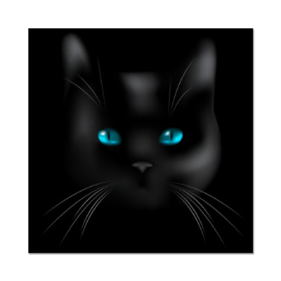 Наклейка (стикер)  Black Cat