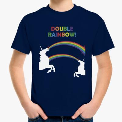 Детская футболка Двойная радуга