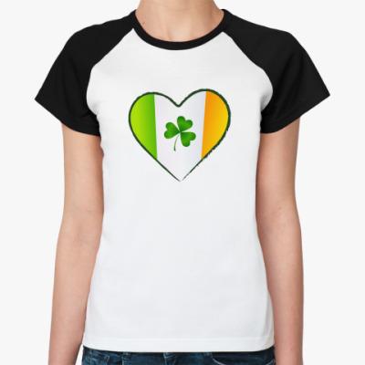 Женская футболка реглан Люблю Ирландию