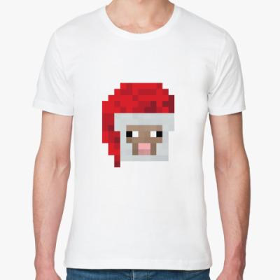 Футболка из органик-хлопка Знаменитая овечка из Minecraft