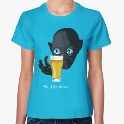 Женская футболка Шмыга и пиво