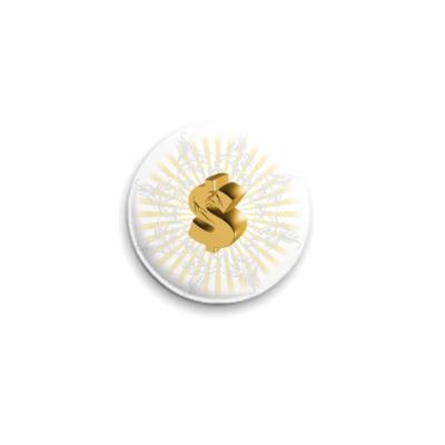 Значок 25мм  Золотое Настроение