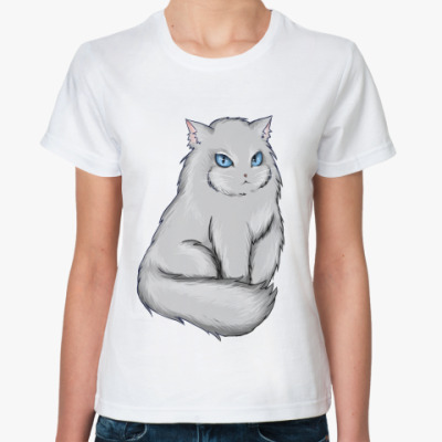 Классическая футболка  футболка с котом