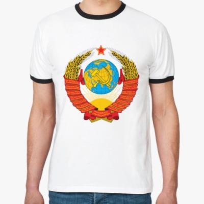 Футболка Ringer-T  Герб СССР