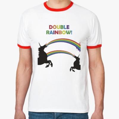 Футболка Ringer-T Двойная радуга