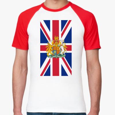 Футболка реглан Флаг и герб Великобритании