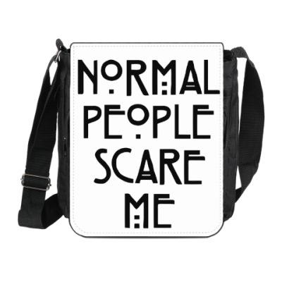 Сумка на плечо (мини-планшет) Normal People Scare Me