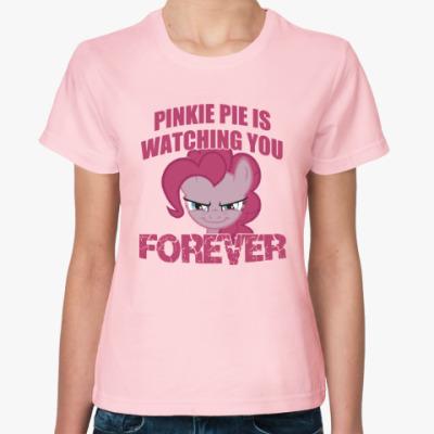 Женская футболка Пинки Пай наблюдает за тобой