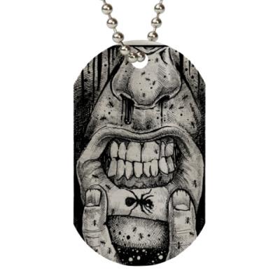 Жетон dog-tag  (металлик) The Prodigy