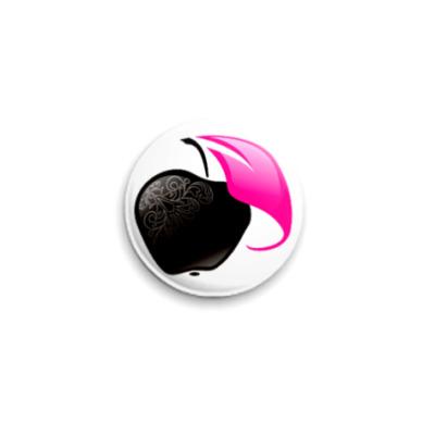 Значок 25мм  'Black Apple'