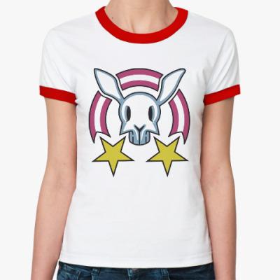 Женская футболка Ringer-T Звездный заяц