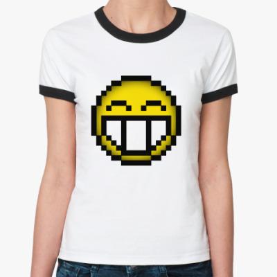 Женская футболка Ringer-T LOL