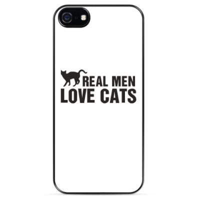 Чехол для iPhone Настоящие мужчины любят котов