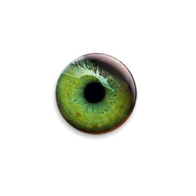 """Значок 25мм  """"Зелёный глаз"""""""