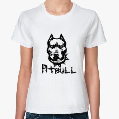 Классическая футболка 'Питбуль'