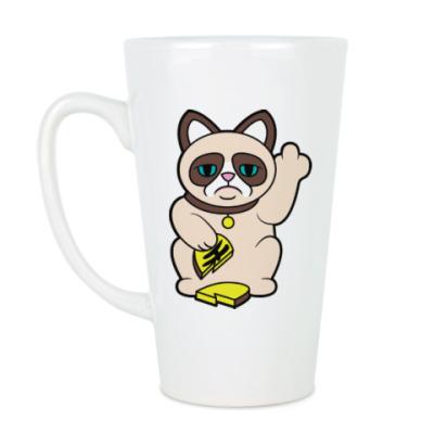 Чашка Латте Tard Grumpy Cat Maneki Neko