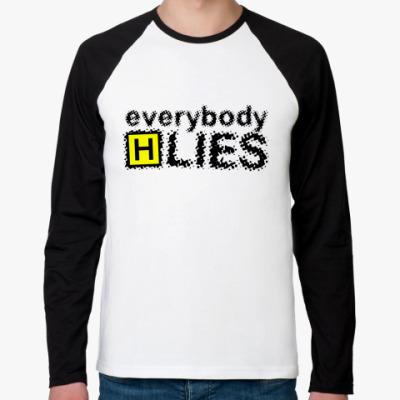 Футболка реглан с длинным рукавом Everybody Lies