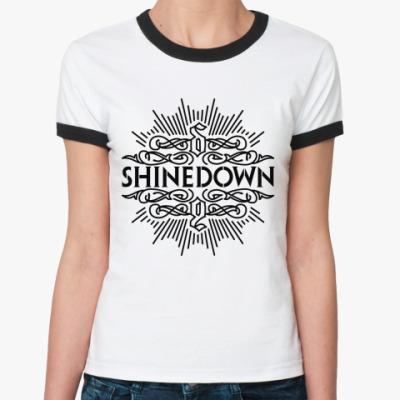 Женская футболка Ringer-T Shinedown