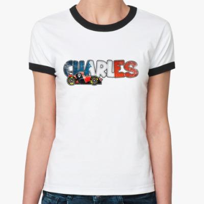 Женская футболка Ringer-T CHARLES