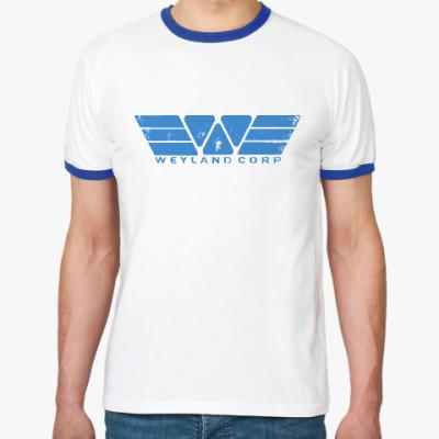 Футболка Ringer-T Чужой. Weyland-Yutani Corp