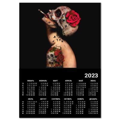 Календарь Sugar skull girl